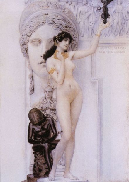 Klimt, Gustav: Allegory of Sculpture. Fine Art Print/Poster. Sizes: A4/A3/A2/A1 (001857)